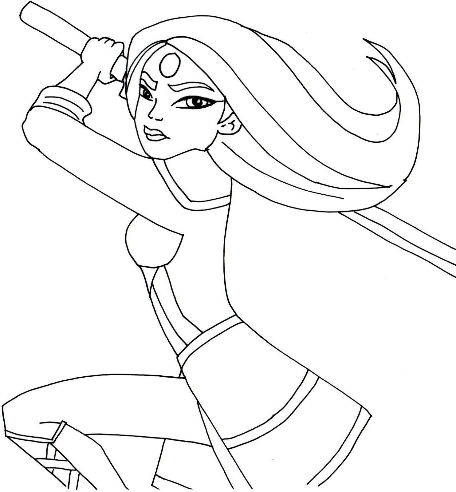 Katana coloring #20, Download drawings