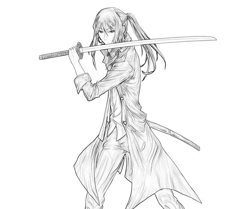 Katana coloring #13, Download drawings