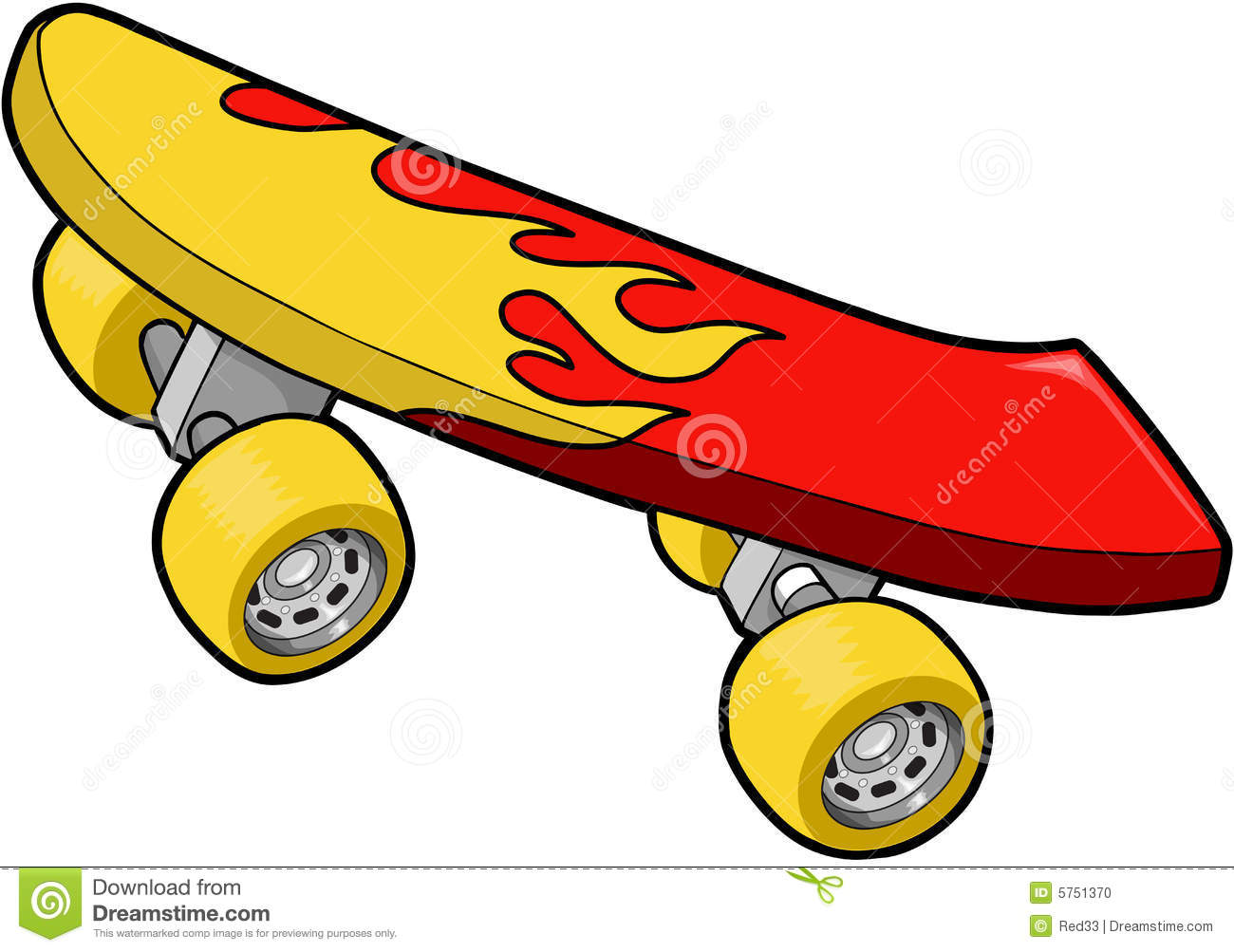 Skateboard clipart #17, Download drawings