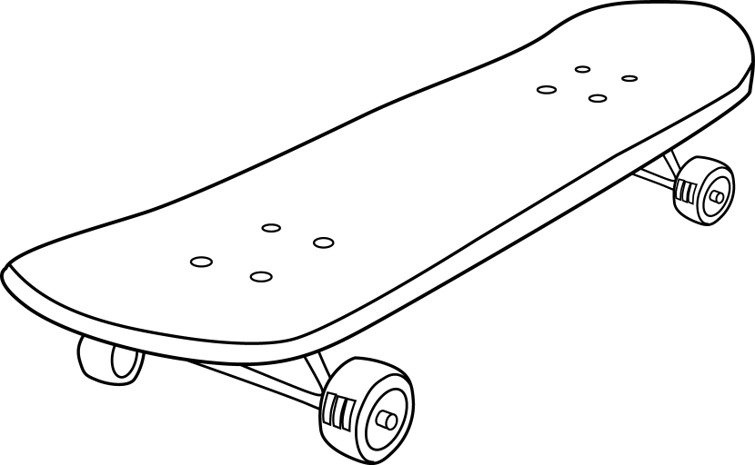 Skateboard clipart #6, Download drawings
