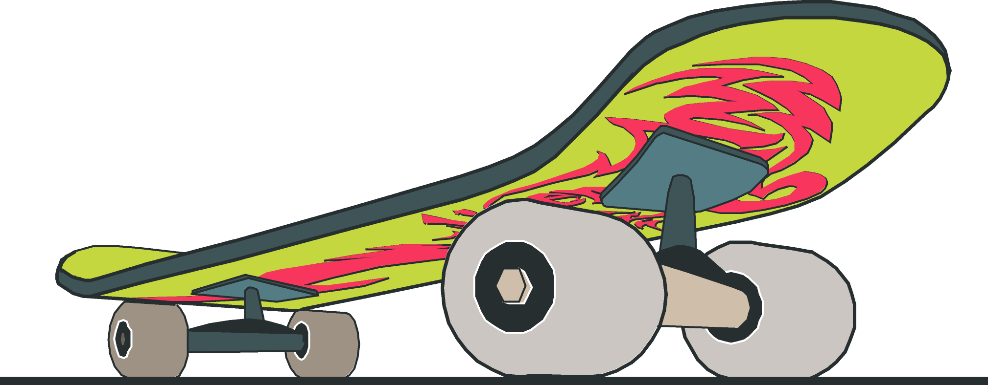 Skateboard clipart #5, Download drawings