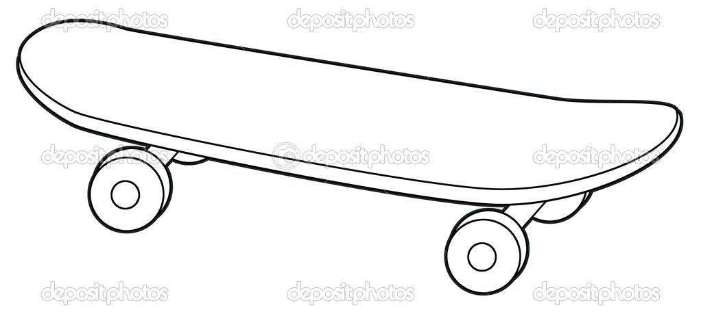 Kateboard coloring #1, Download drawings