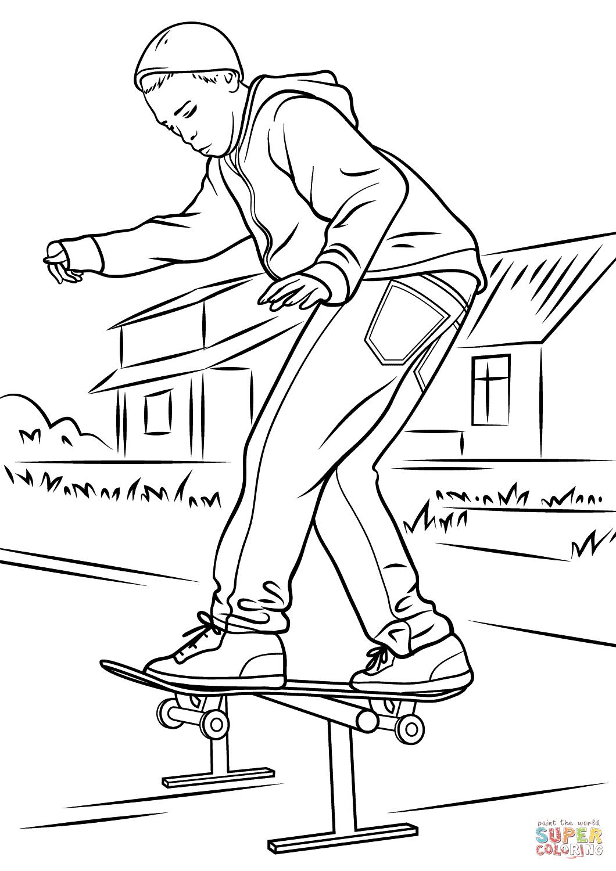 Kateboard coloring #13, Download drawings