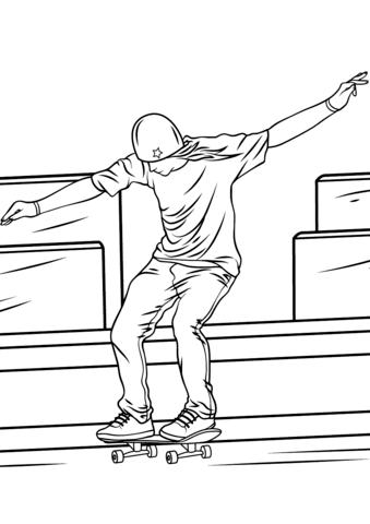 Kateboard coloring #14, Download drawings