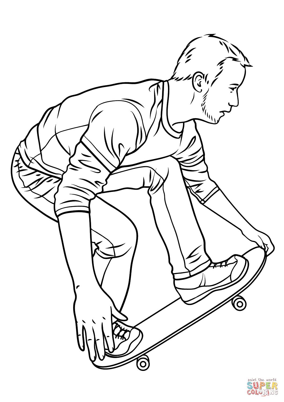 Kateboard coloring #16, Download drawings