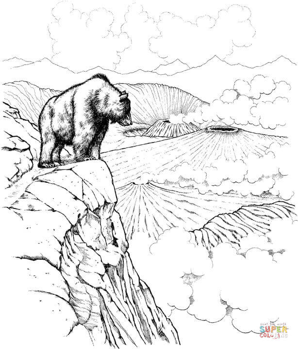 Katmai National Park coloring #6, Download drawings