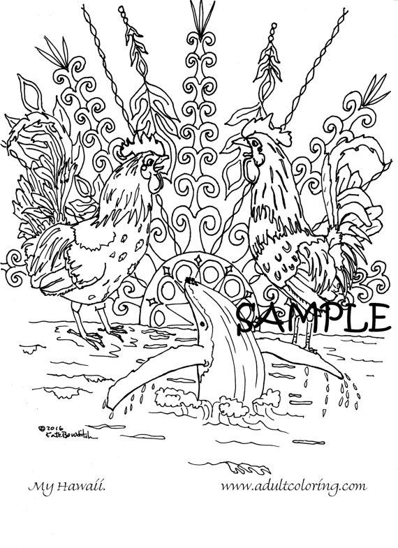 Kauai coloring #4, Download drawings
