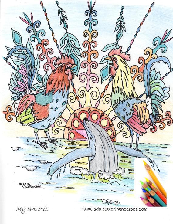 Kauai coloring #10, Download drawings
