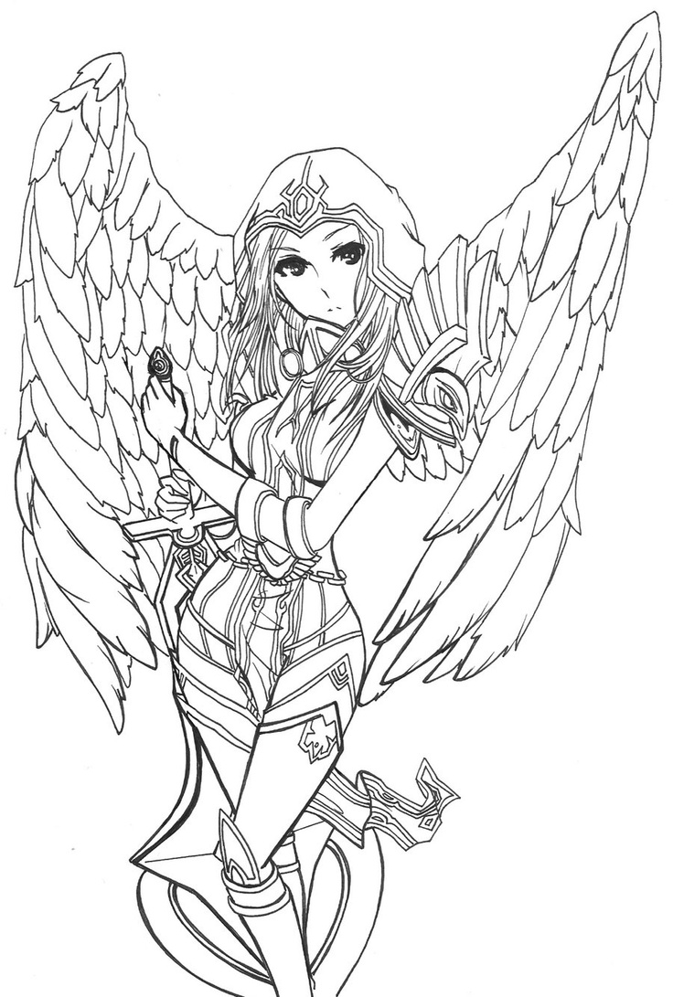 Kayle (League Of Legends) coloring #12, Download drawings