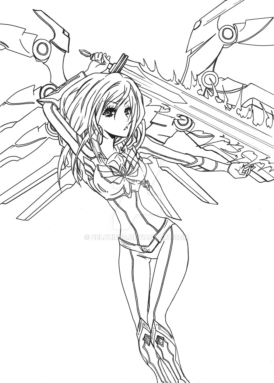 Kayle (League Of Legends) coloring #1, Download drawings