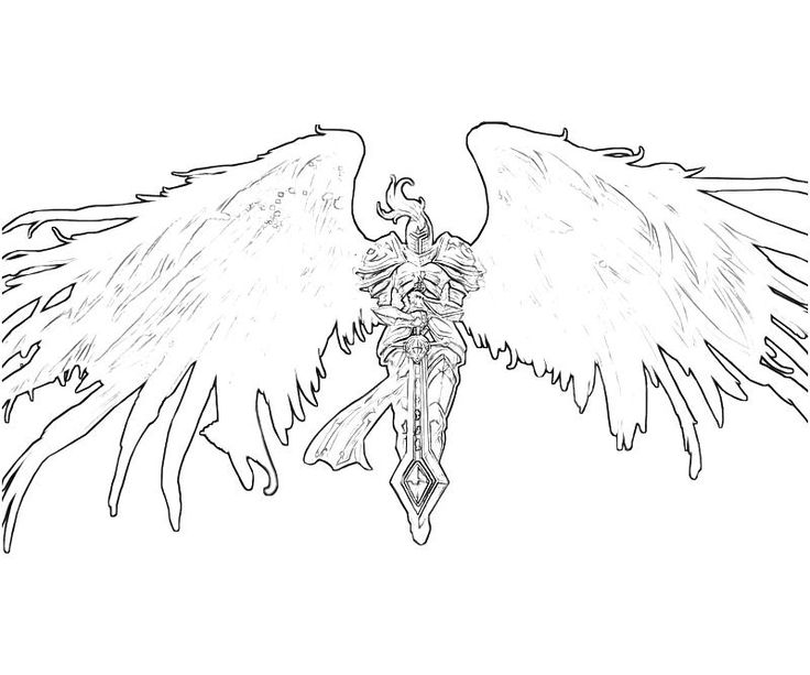 Kayle (League Of Legends) coloring #18, Download drawings
