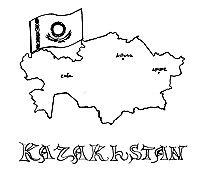 Kazakhstan coloring #11, Download drawings