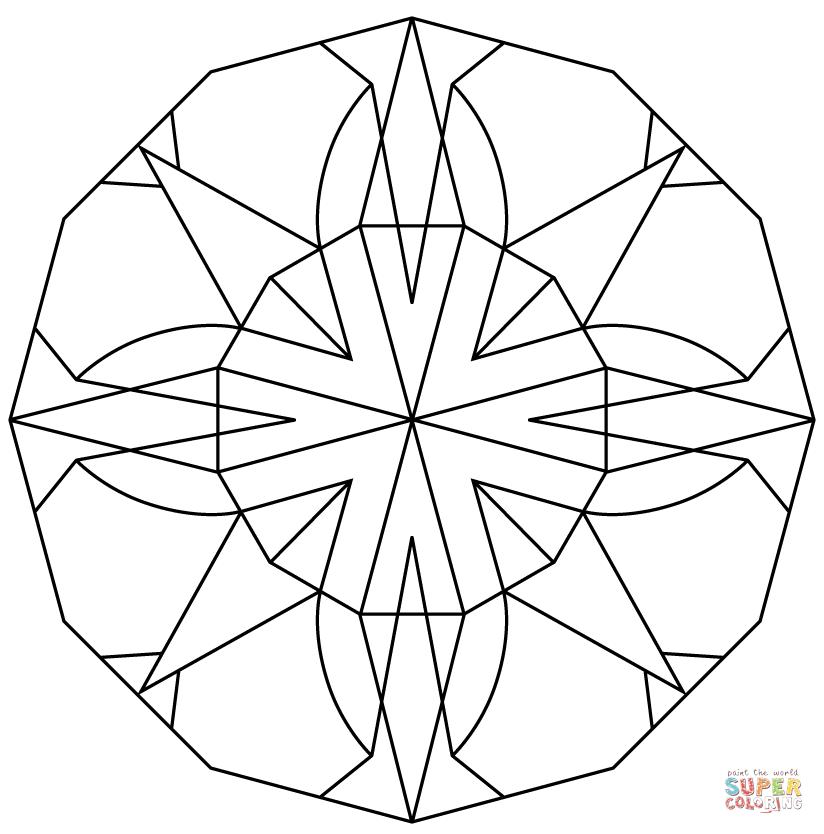 Keleidoscope coloring #3, Download drawings