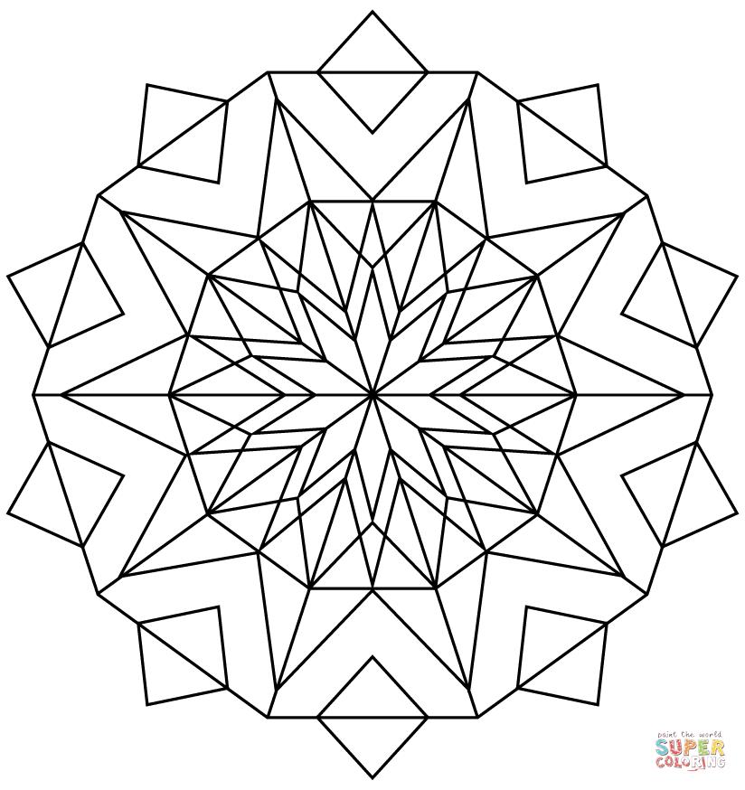 Keleidoscope coloring #13, Download drawings