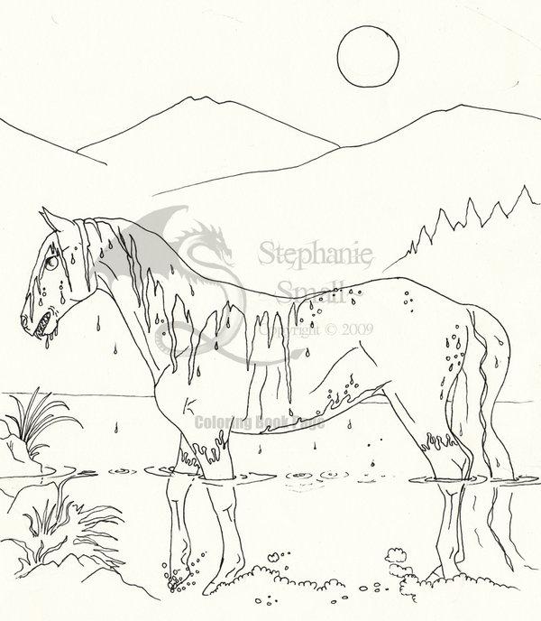 Kelpie coloring #6, Download drawings