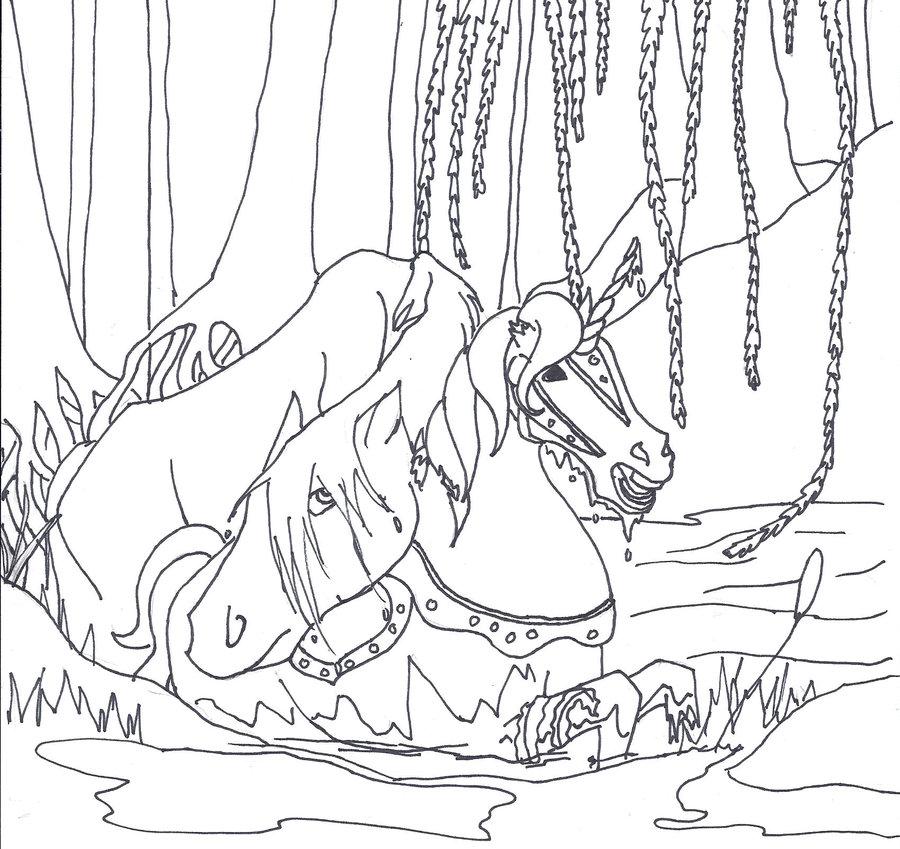 Kelpie coloring #19, Download drawings