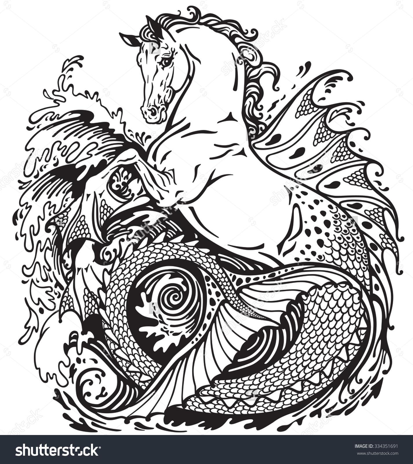 Kelpie coloring #15, Download drawings