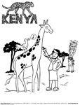 Kenya coloring #17, Download drawings