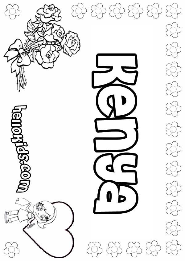 Kenya coloring #1, Download drawings