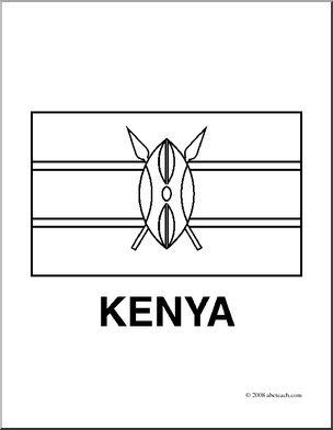 Kenya coloring #20, Download drawings