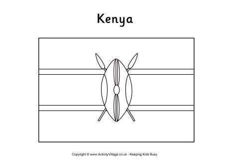 Kenya coloring #2, Download drawings