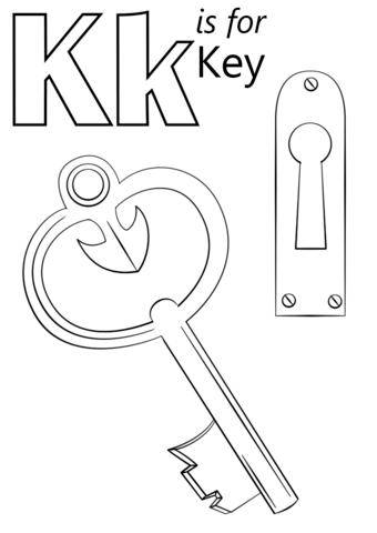 Key coloring #6, Download drawings
