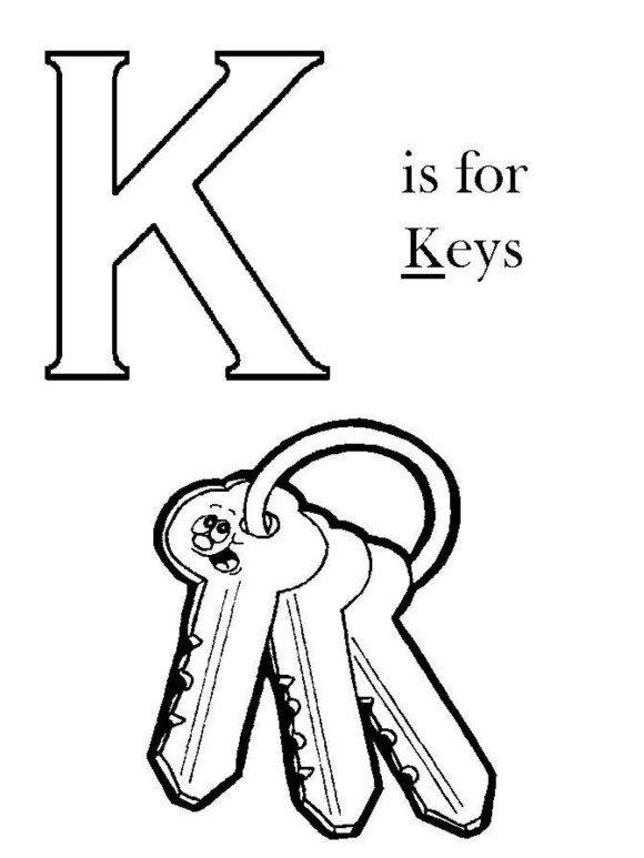 Key coloring #10, Download drawings
