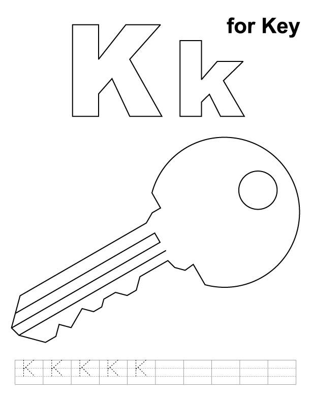 Key coloring #8, Download drawings