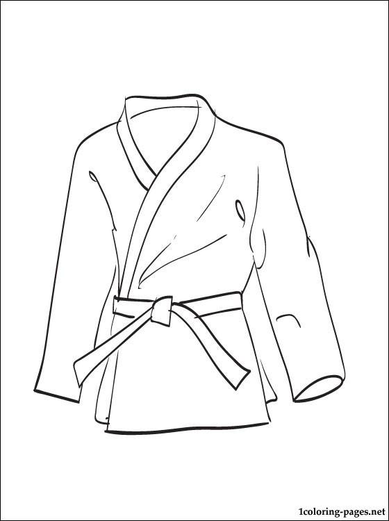 Kimono coloring #4, Download drawings