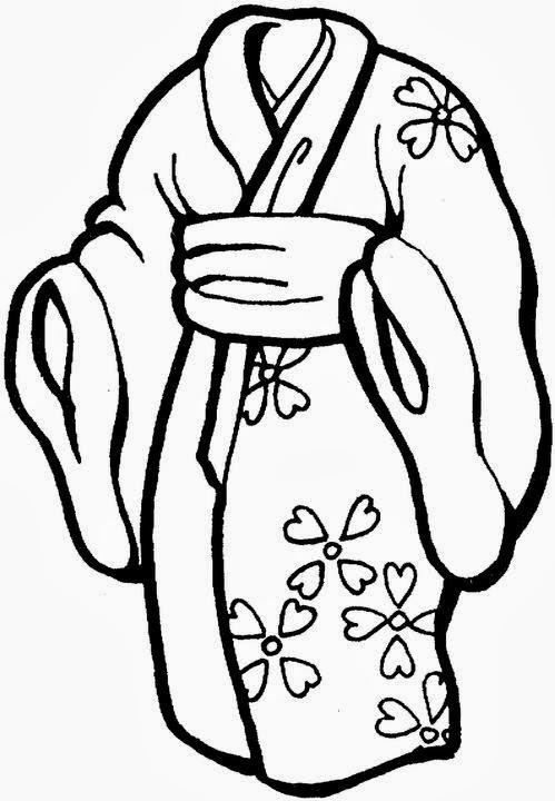 Kimono coloring #16, Download drawings