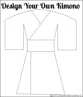 Kimono coloring #18, Download drawings