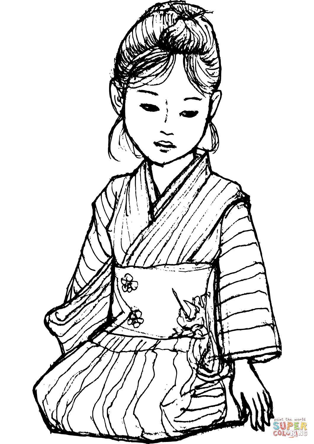 Kimono coloring #8, Download drawings