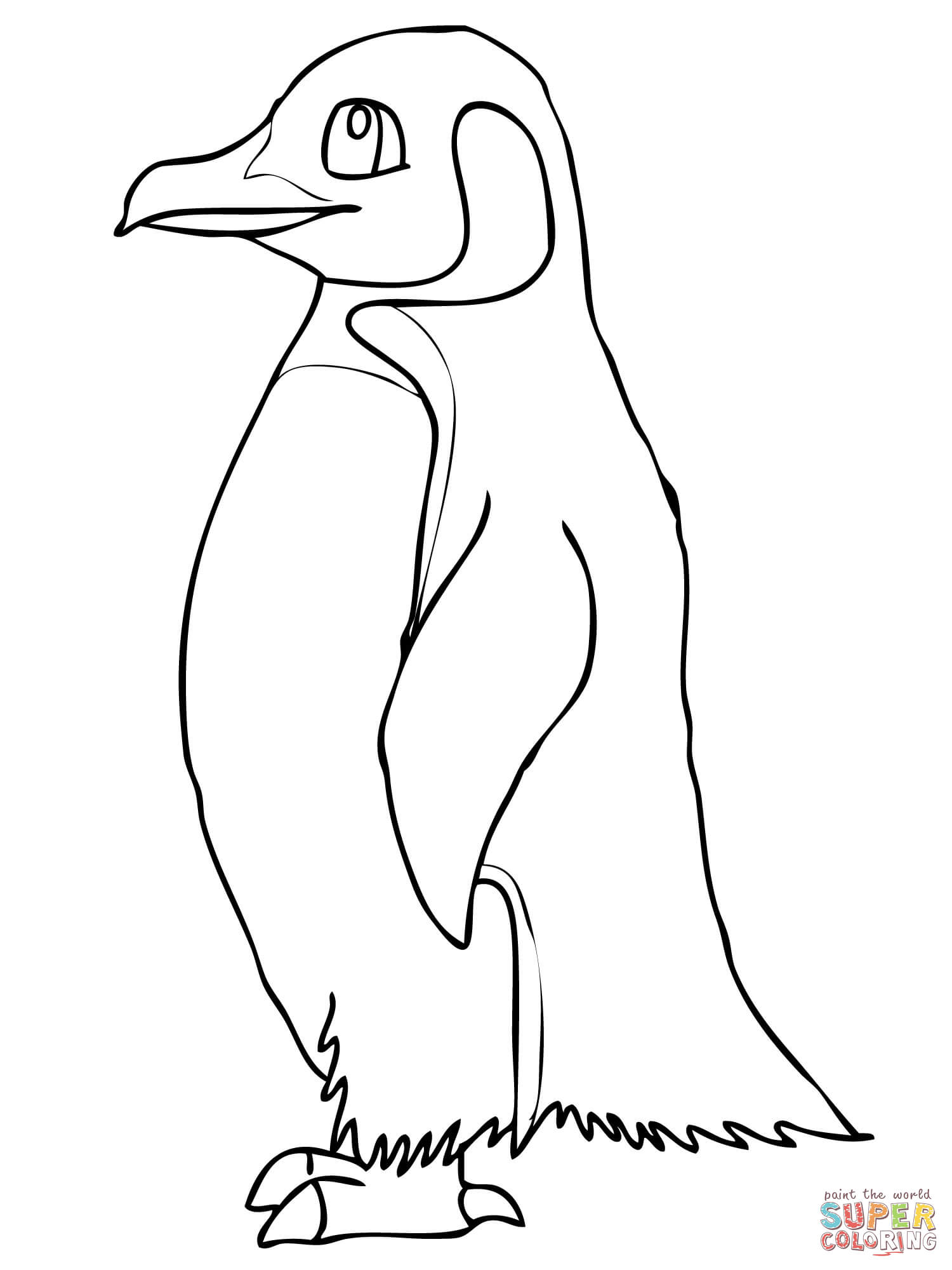 King Emperor Penguins coloring #4, Download drawings