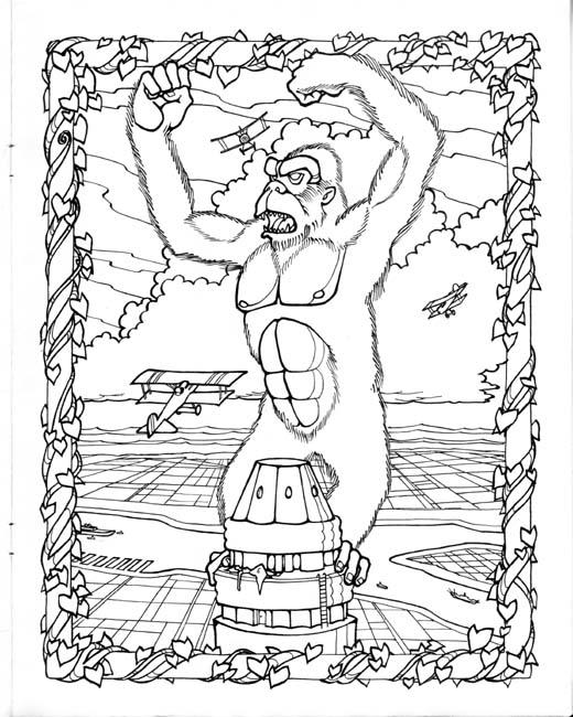 King Kong coloring #9, Download drawings
