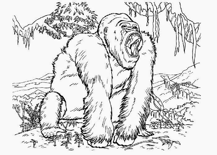 King Kong coloring #16, Download drawings