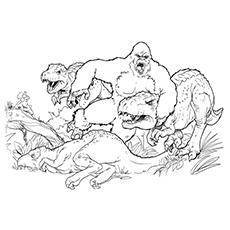 King Kong coloring #4, Download drawings