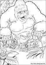 King Kong coloring #10, Download drawings