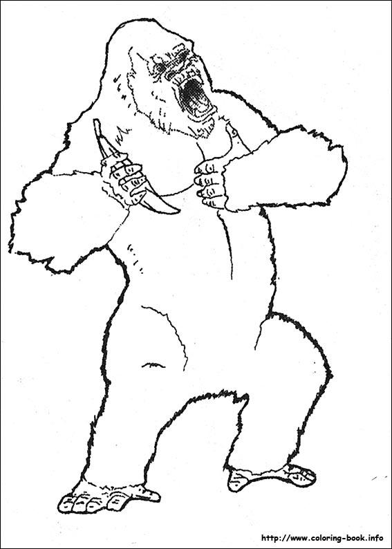 King Kong coloring #19, Download drawings