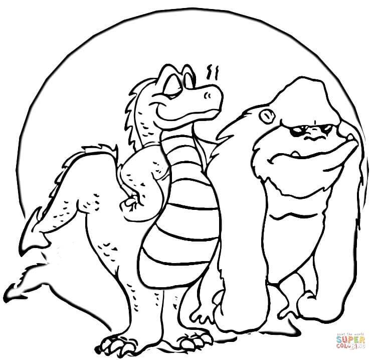 King Kong coloring #7, Download drawings