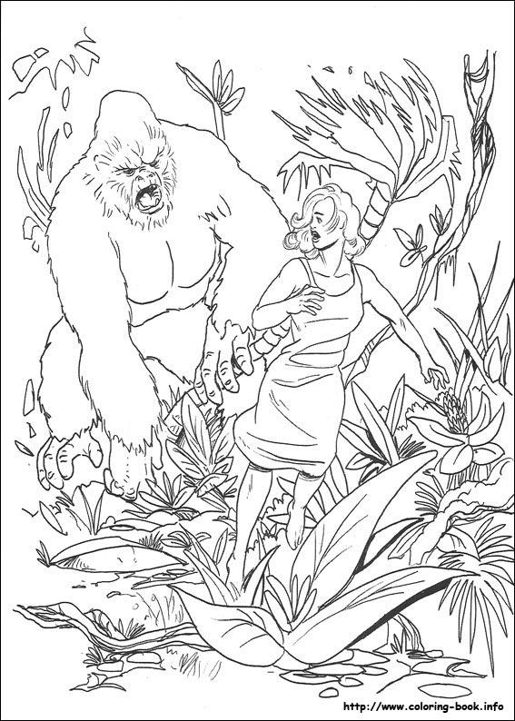King Kong coloring #15, Download drawings