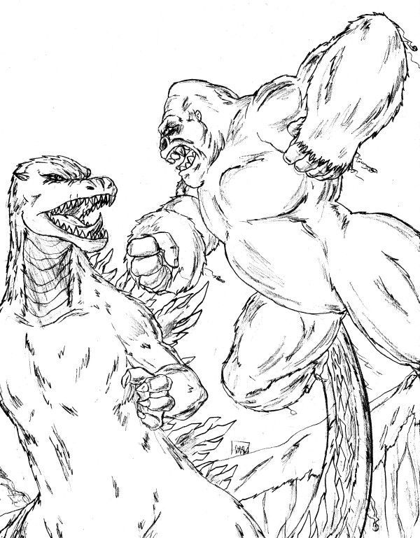 King Kong coloring #13, Download drawings