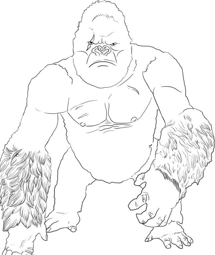 King Kong coloring #20, Download drawings