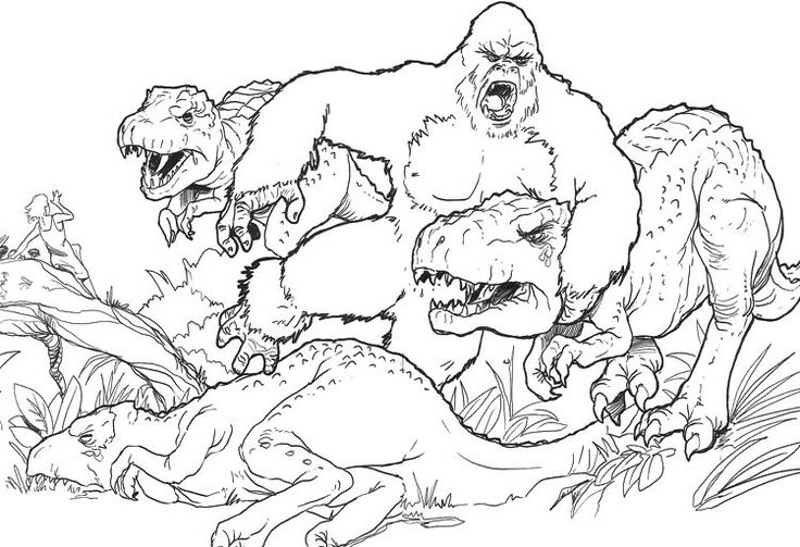 King Kong coloring #12, Download drawings