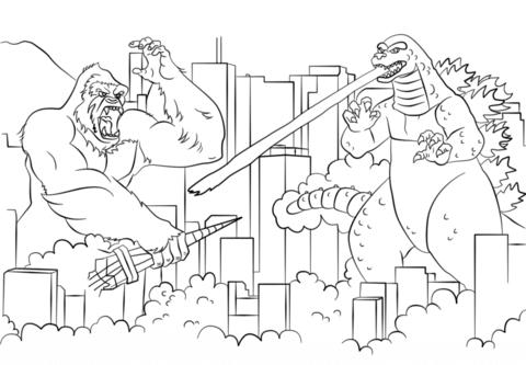 King Kong coloring #14, Download drawings