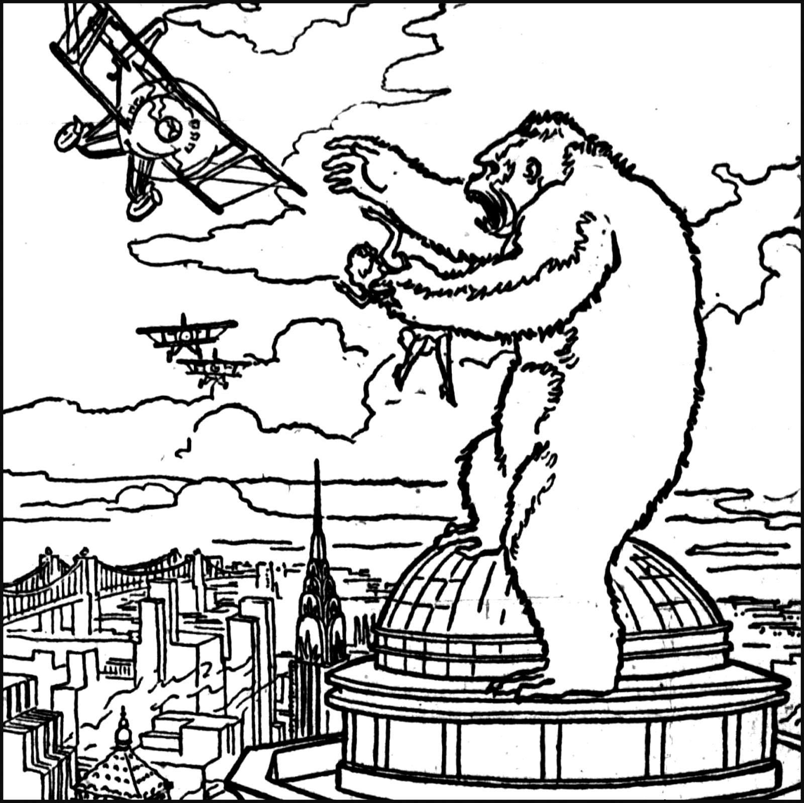 King Kong coloring #18, Download drawings