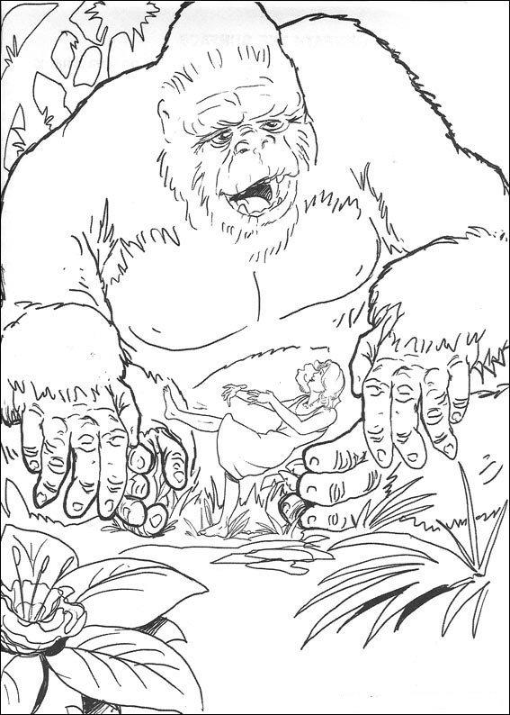 King Kong coloring #8, Download drawings