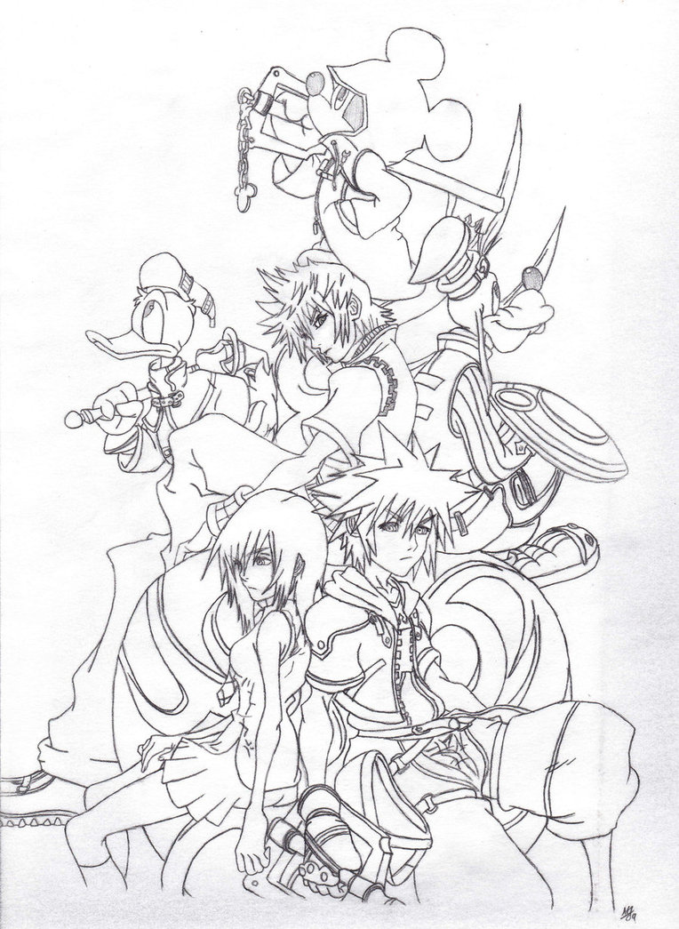 Kingdom Hearts coloring #19, Download drawings