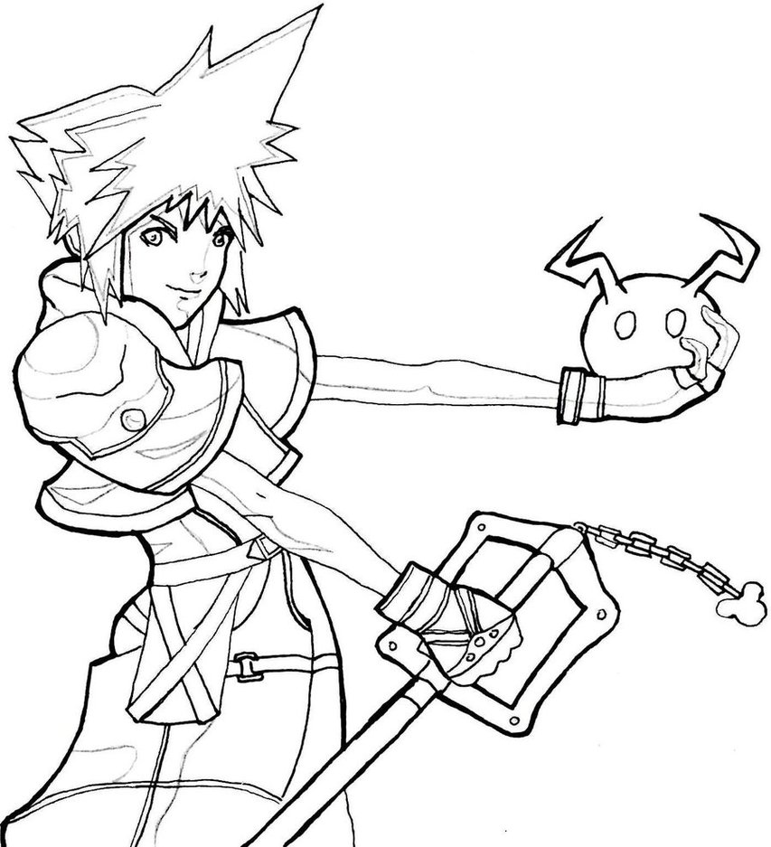 Kingdom Hearts coloring #12, Download drawings