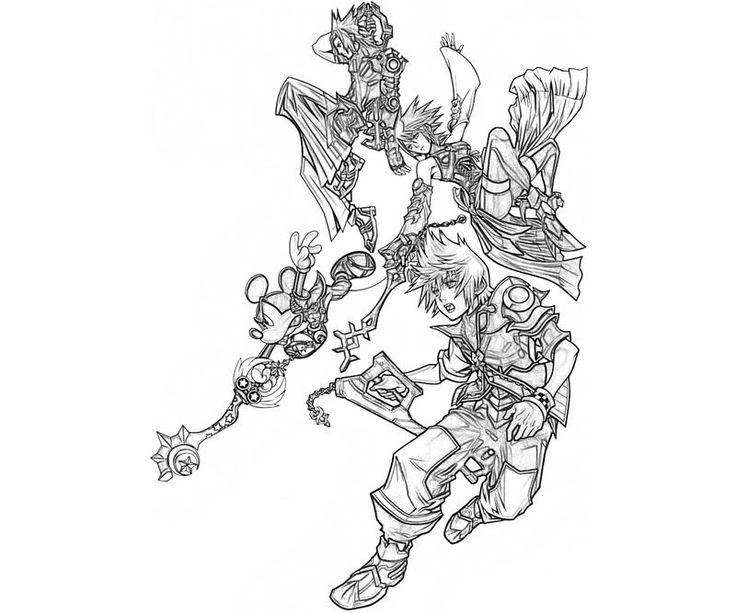 Kingdom Hearts coloring #8, Download drawings