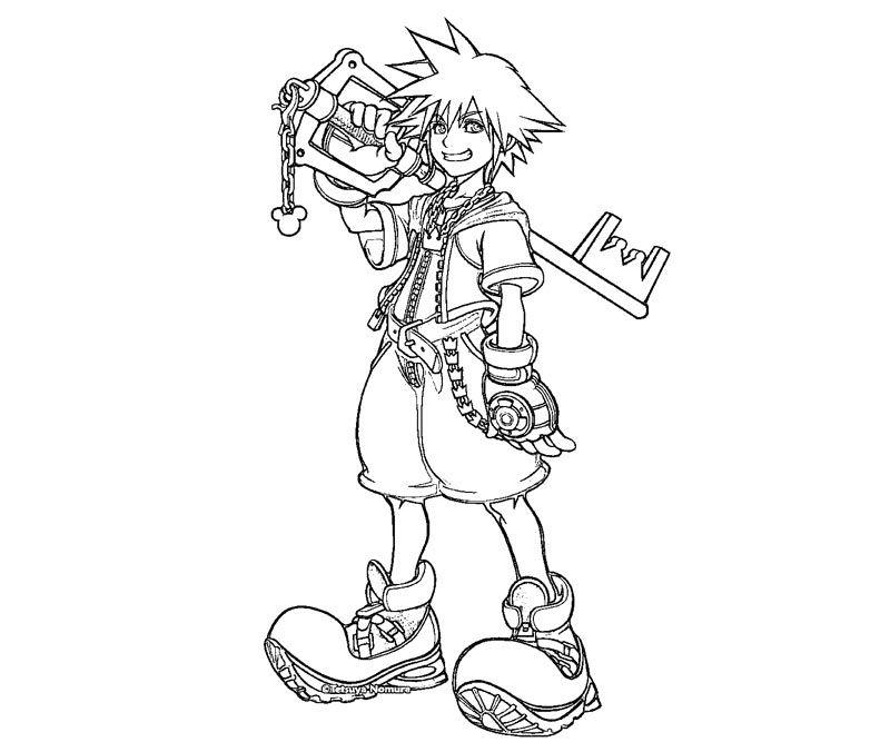 Kingdom Hearts coloring #1, Download drawings